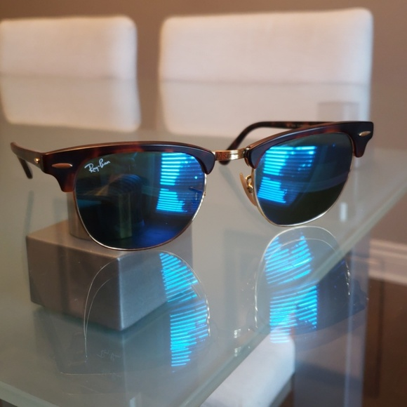 ray ban clubmaster polarized blue lens